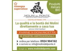 Le farine e paste artigianali Molini Del Ponte direttamente a casa tua (
